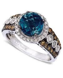 rings topaz images Le vian blue topaz 2 ct t w and white and chocolate diamonds tif