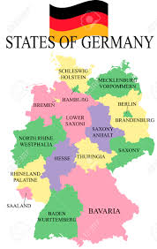 Map Of Bavaria Germany by Germania Map With States Royalty Free Cliparts Vectors And