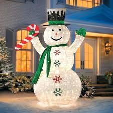 plastic outdoor snowman decorations 6 foot lit lighted sculpture
