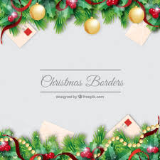 christmas borders decorationb set vector free download