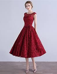 tea length dress tea length burgundy dress other dresses dressesss