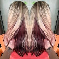 blonde bobbed hair with dark underneath short blonde hair with red underneath best color stock photos hd