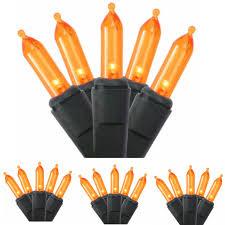 orange string lights led mini christmas halloween party blinker