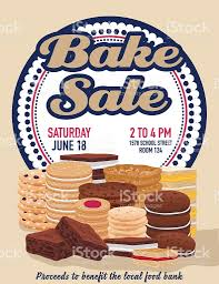 food drive poster template free bake sale poster template with cookies brownies and bars stock