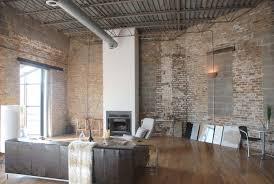 brick loft apartment interior design