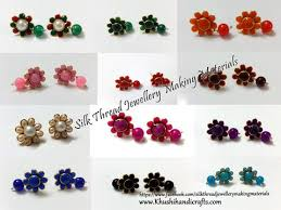 pachi earrings buy silk thread jewellery materials kits jewelry
