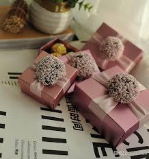 candy favor boxes wholesale wedding favors gifts boxes with ribbon flower candy chocolate
