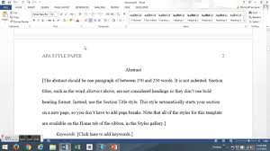 how to write a apa style research paper the basics how to write an apa style paper youtube