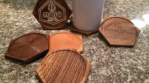 Drink Coasters by Wooden Drink Coasters By Mojo Mfg U2014 Kickstarter