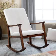 Rocking Chair Furniture Appealing White Nursery Rocking Chair With Oak Wood