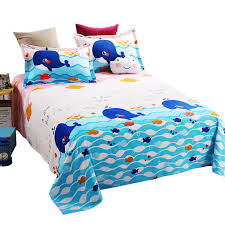 breathable sheets flat sheet child queen printed cotton soft breathable iron
