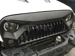 jeep wrangler front grill amazon com opar matte black front gladiator vader grille for 2007