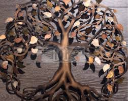 large metal wall heated steel tree of infinity tree