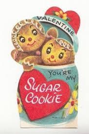 vintage valentines adorable gingerbread in a cookie jar vintage