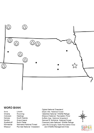Nebraska State Map by Nebraska Map Worksheet Coloring Page Free Printable Coloring Pages