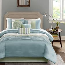Madison Park Bedding Green U0026 Blue King 7 Pc Comforter Set Madison Park Chester Soft