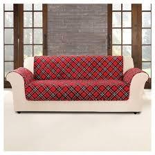 sofa cover furniture flair tartan plaid sofa cover sure fit target