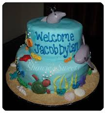 shawie u0027s sweets under the sea baby shower cake