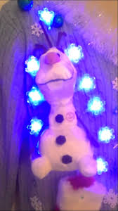 frozen olaf ugly christmas sweater lights up for sale youtube
