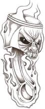 skull and piston tattoos skull with piston tattoo drawing pictures to pin on pinterest