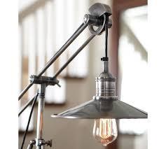 Filament Bulb Desk Lamp Pottery Barn Pulley Task Table Lamp