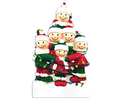 12 family personalized ornament large family