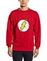 the flash fastest man alive sweatshirt red amazon co uk clothing