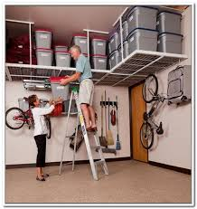 Garage Ceiling Storage Systems by Overhead Garage Storage Systems Pulley Home Design Ideas