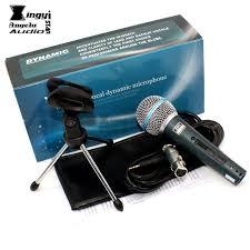 microphone de bureau bt58a de bureau trépied titulaire dynamique filaire microphone