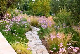 Drought Tolerant Landscaping Ideas A Charming Mediterranean Stone Path