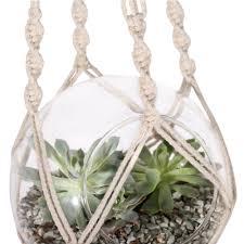 macrame plant hanger hanging planter holder basket for flower pots