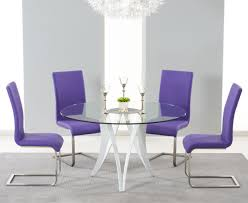 fantastical purple dining chairs purple dining room table and