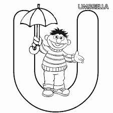 learn letter umbrella sesame street coloring bulk
