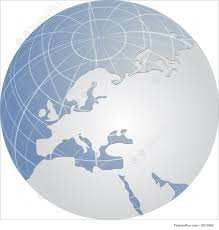 European Continent Map by Globes Globe Europe Stock Illustration I2012069 At Featurepics
