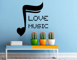 music wall decal vinyl stickers i love music home interior art zoom