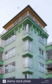 art deco style modern building burgas black sea coast town