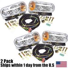 meyer snow plow replacement lights 2 universal halogen snow plow lights fits boss western blizzard