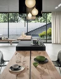 table de cuisine avec plan de travail découvrez nos 84 jolies propositions pour cuisine avec bar archzine fr