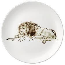 lion sketch plates zazzle