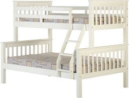 Seconique Neptune Triple Sleeper Bunks In White Allans Furniture - Triple bunk beds with mattress