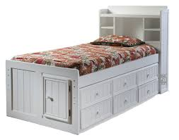 great white twin storage bed with bookcase headboard 46 about