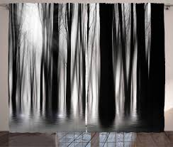 And White Curtains Black And White Curtains Abstract Woods Window Drapes 2 Panel Set