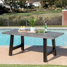 Cement Patio Table Concrete Patio Furniture Outdoor Seating Dining For Less