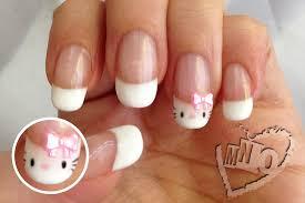 mno cute hello kitty french manicure