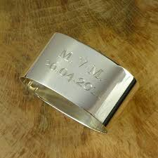 silver napkin ring personalised by hersey silversmiths