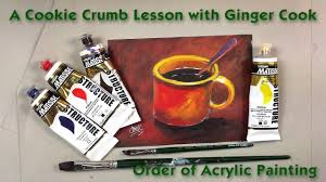 how to paint from dark to light a cookie crumb lesson with ginger