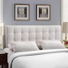 headboard with bed frame bedroom long white headboard with white tufted style matched