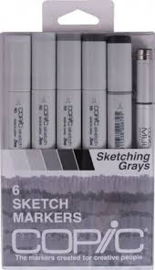 copic 12pc classic basic colors on the hunt