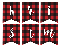 free printable merry christmas paper trail design