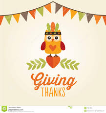 happy thanksgiving card owl costume giving thanks stock